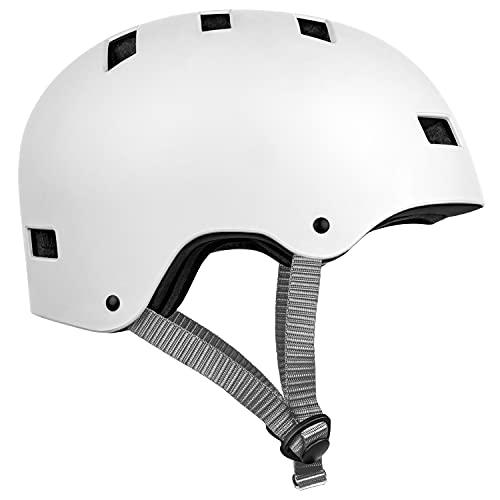 Retrospec cm-1 Bicycle/Skateboard Helmet for Adult Commuter, Bike, Skate , Matte White,...