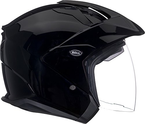 Bell Mag-9 Open Face Motorcycle Helmet (Solid Gloss Black, X-Large)