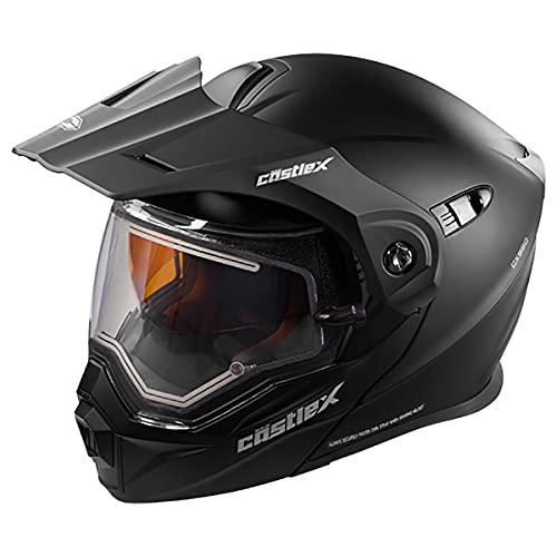 Castle X EXO-CX950 Electric Modular Snowmobile Helmet Solid Matte Black MED