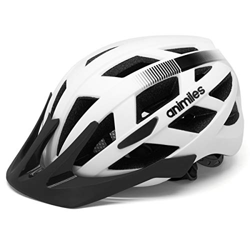 ANIMILES Bike Helmet for Adults with Light, CPSC Certified with Detachable Visor, Mountain...