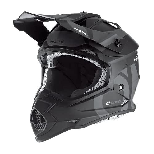 O'Neal 0200-S14 2Series Adult Helmet, Slick (Black/Gray, LG)