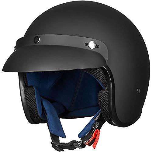 ILM 3/4 Open Face Half Motorcycle Helmet DOT Approved Retro Casco Fit Men Women ATV Moped...