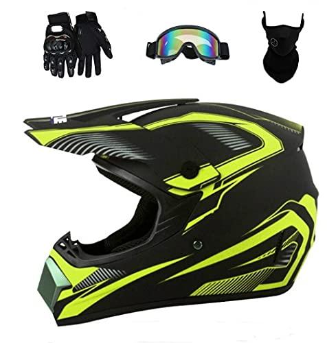 Senhill DOT Motocross Helmet Unisex Offroad Helmet Dirt Bike ATV Motorcycle Helmet with...