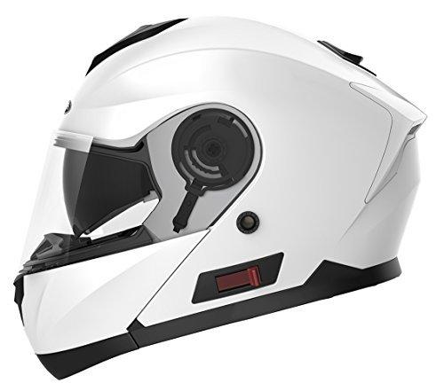 Motorcycle Modular Full Face Helmet DOT Approved - YEMA YM-926 Motorbike Moped Street Bike...