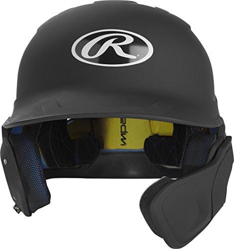 Rawlings MACHEXTR-B7-SR 2019 Mach Baseball Batting Helmet, Matte Black