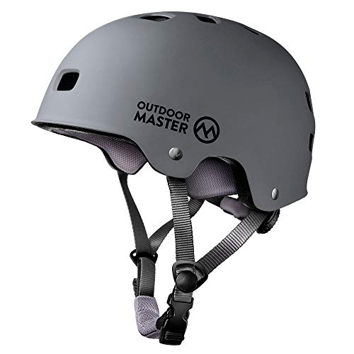 OutdoorMaster Skateboard Cycling Helmet - Two Removable Liners Ventilation Multi-Sport...