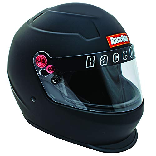 RaceQuip Full Face Helmet PRO20 Series Snell SA2020 Rated Flat Black Large 276995