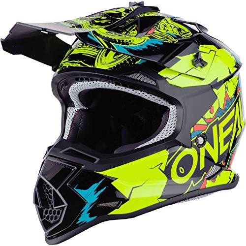 O'Neal 0200-463 2SRS Youth Helmet Villian, Neon Yellow, M