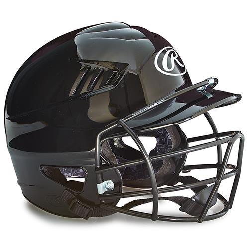 Youth Batting Helmet w/Face Guard - Black (EA)