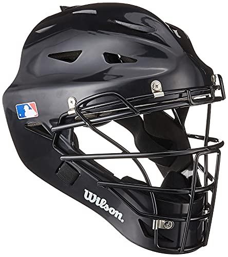 Wilson Prestige Catcher's Helmet, Black, Small/Medium