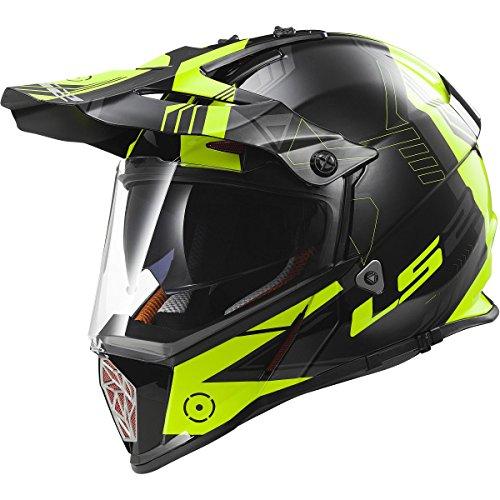 LS2 Helmets Pioneer Trigger Adventure Off Road Motorcycle Helmet with Sunshield (Yellow,...