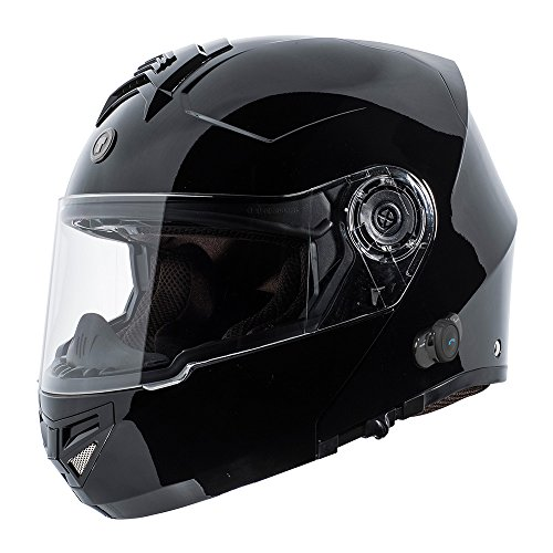 TORC T27B1 T27 Full Face Modular Helmet with Integrated Blinc Bluetooth (Gloss Black,...