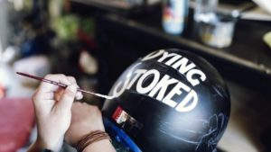 How to safely paint your helmet with acrylic paints