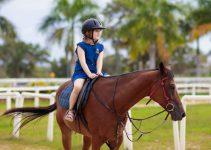 Helmet for kid riding horse